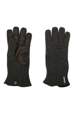 Мужские кашемировые перчатки CORNELIANI темно-серого цвета, арт. 88Q324-1820576/00 | Фото 2