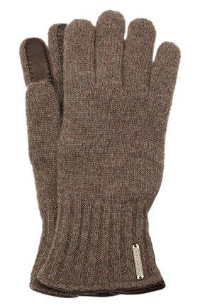 Мужские кашемировые перчатки CORNELIANI коричневого цвета, арт. 88Q324-1820576/00 | Фото 1