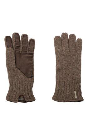 Мужские кашемировые перчатки CORNELIANI коричневого цвета, арт. 88Q324-1820576/00 | Фото 2