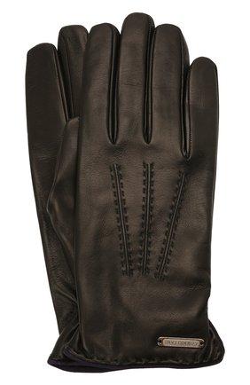 Мужские кожаные перчатки CORNELIANI черного цвета, арт. 88Q338-1820575/00 | Фото 1