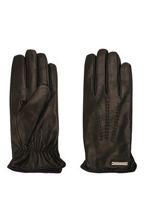 Мужские кожаные перчатки CORNELIANI черного цвета, арт. 88Q338-1820575/00 | Фото 2
