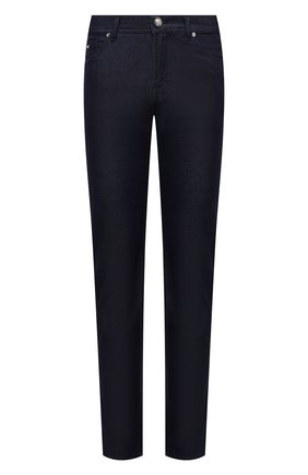 Мужские джинсы MARCO PESCAROLO темно-синего цвета, арт. NERAN0M18/ZIP/44J18 | Фото 1 (Длина (брюки, джинсы): Стандартные; Материал внешний: Хлопок; Кросс-КТ: Деним; Силуэт М (брюки): Прямые; Стили: Кэжуэл)