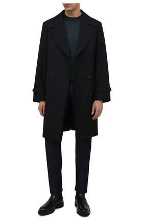 Мужские джинсы MARCO PESCAROLO темно-синего цвета, арт. NERAN0M18/ZIP/44J18 | Фото 2 (Длина (брюки, джинсы): Стандартные; Материал внешний: Хлопок; Кросс-КТ: Деним; Силуэт М (брюки): Прямые; Стили: Кэжуэл)