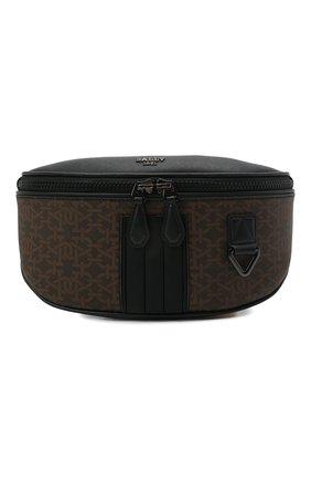 Мужская текстильная поясная сумка matey BALLY коричневого цвета, арт. MATEY.STM/01   Фото 1 (Ошибки технического описания: Нет высоты, Нет глубины, Нет ширины; Материал: Текстиль)