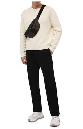 Мужская текстильная поясная сумка matey BALLY коричневого цвета, арт. MATEY.STM/01   Фото 2 (Ошибки технического описания: Нет высоты, Нет глубины, Нет ширины; Материал: Текстиль)