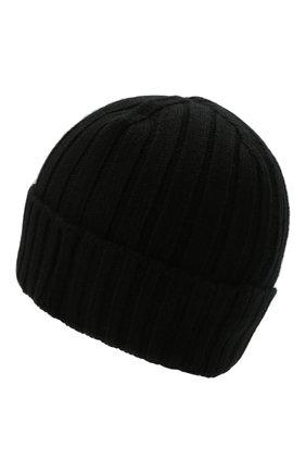 Мужская шерстяная шапка STONE ISLAND черного цвета, арт. 7515N24B5 | Фото 2