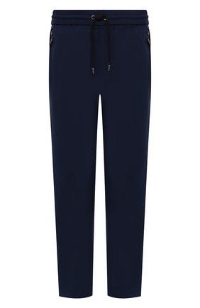 Мужские брюки BURBERRY темно-синего цвета, арт. 8041911 | Фото 1 (Длина (брюки, джинсы): Стандартные; Материал внешний: Шерсть; Случай: Повседневный; Стили: Кэжуэл)