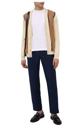 Мужские брюки BURBERRY темно-синего цвета, арт. 8041911 | Фото 2 (Длина (брюки, джинсы): Стандартные; Материал внешний: Шерсть; Случай: Повседневный; Стили: Кэжуэл)