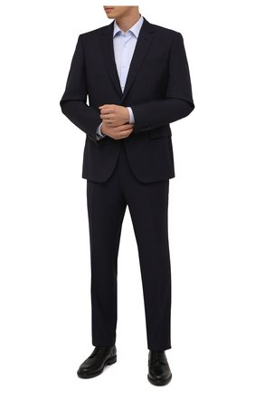 Мужские кожаные дерби PANTANETTI черного цвета, арт. 14932C/F0ILED   Фото 2