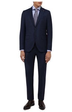 Мужские кожаные оксфорды BARRETT темно-коричневого цвета, арт. 192U091.19/BETIS CREAM | Фото 2 (Материал внутренний: Натуральная кожа; Стили: Классический; Мужское Кросс-КТ: Броги-обувь)