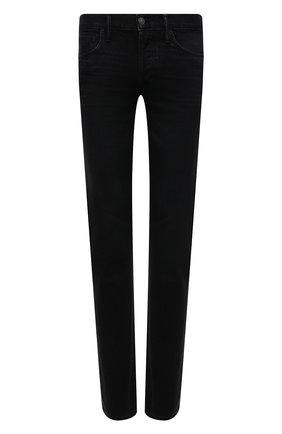 Мужские джинсы TOM FORD черного цвета, арт. BYJ50/TFD002 | Фото 1 (Длина (брюки, джинсы): Стандартные; Материал внешний: Хлопок; Кросс-КТ: Деним; Силуэт М (брюки): Прямые; Стили: Кэжуэл)