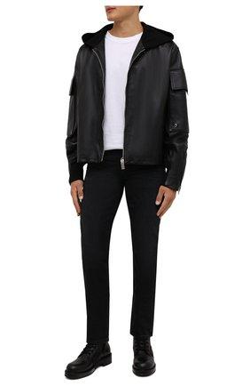 Мужские джинсы TOM FORD черного цвета, арт. BYJ50/TFD002 | Фото 2 (Длина (брюки, джинсы): Стандартные; Материал внешний: Хлопок; Кросс-КТ: Деним; Силуэт М (брюки): Прямые; Стили: Кэжуэл)