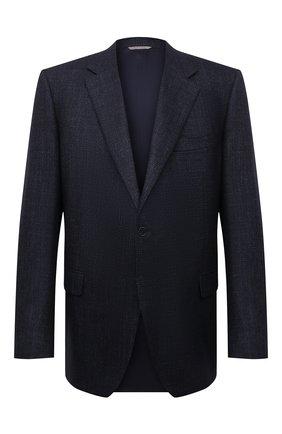 Мужской пиджак из шерсти кашемира CANALI темно-синего цвета, арт. 11280/CF01749   Фото 1