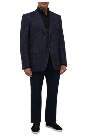 Мужской шерстяной пиджак CANALI темно-синего цвета, арт. 11280/CF00897   Фото 2