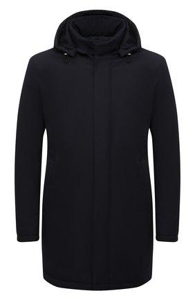 Мужская утепленная куртка SARTORIA LATORRE темно-синего цвета, арт. CTS005 SP9005 | Фото 1 (Рукава: Длинные; Материал подклада: Синтетический материал; Материал внешний: Синтетический материал; Длина (верхняя одежда): До середины бедра; Кросс-КТ: Куртка; Мужское Кросс-КТ: утепленные куртки; Стили: Кэжуэл)