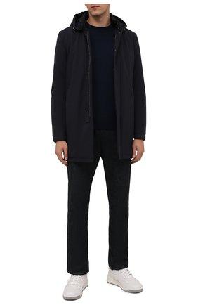 Мужская утепленная куртка SARTORIA LATORRE темно-синего цвета, арт. CTS005 SP9005 | Фото 2 (Рукава: Длинные; Материал подклада: Синтетический материал; Материал внешний: Синтетический материал; Длина (верхняя одежда): До середины бедра; Кросс-КТ: Куртка; Мужское Кросс-КТ: утепленные куртки; Стили: Кэжуэл)