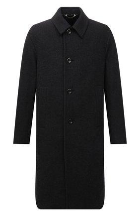 Мужской пальто DRIES VAN NOTEN темно-серого цвета, арт. 212-020210-3197 | Фото 1