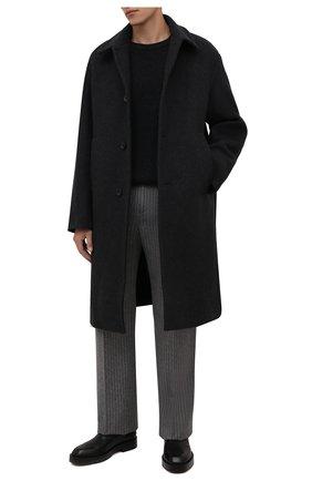 Мужской пальто DRIES VAN NOTEN темно-серого цвета, арт. 212-020210-3197 | Фото 2