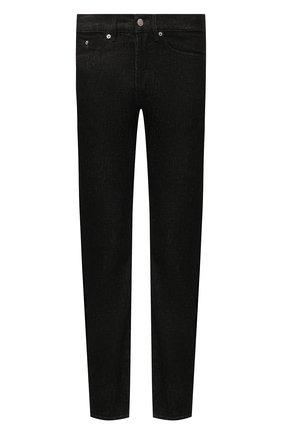 Мужские джинсы DRIES VAN NOTEN черного цвета, арт. 212-022411-3372 | Фото 1 (Материал внешний: Хлопок; Длина (брюки, джинсы): Стандартные; Кросс-КТ: Деним; Силуэт М (брюки): Прямые; Стили: Кэжуэл)