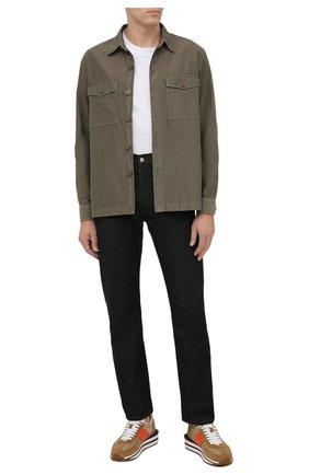 Мужские джинсы DRIES VAN NOTEN черного цвета, арт. 212-022411-3372 | Фото 2