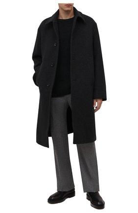 Мужской шерстяной свитер DRIES VAN NOTEN темно-серого цвета, арт. 212-021238-3702 | Фото 2