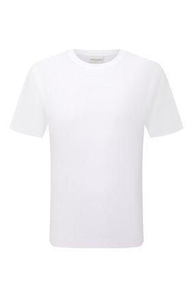 Мужская хлопковая футболка DRIES VAN NOTEN белого цвета, арт. 212-021194-3600 | Фото 1 (Рукава: Короткие; Длина (для топов): Стандартные; Материал внешний: Хлопок; Принт: Без принта; Стили: Кэжуэл)