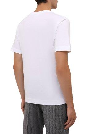 Мужская хлопковая футболка DRIES VAN NOTEN белого цвета, арт. 212-021194-3600 | Фото 4 (Принт: Без принта; Рукава: Короткие; Длина (для топов): Стандартные; Материал внешний: Хлопок; Стили: Кэжуэл)