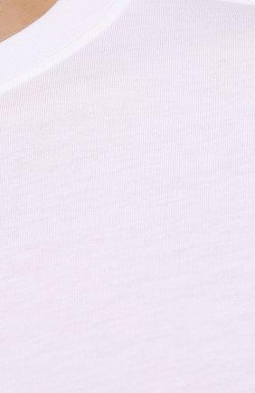 Мужская хлопковая футболка DRIES VAN NOTEN белого цвета, арт. 212-021194-3600 | Фото 5 (Принт: Без принта; Рукава: Короткие; Длина (для топов): Стандартные; Материал внешний: Хлопок; Стили: Кэжуэл)