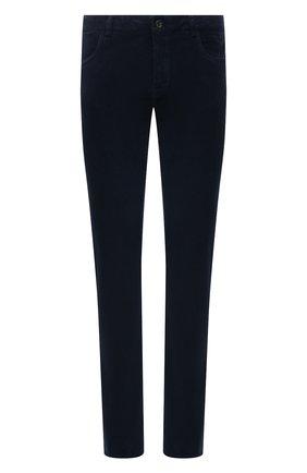 Мужские хлопковые брюки CANALI темно-синего цвета, арт. 91551/PT00499   Фото 1