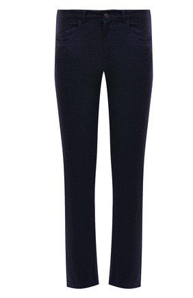 Мужские шерстяные брюки CANALI темно-синего цвета, арт. V1551/AR03472 | Фото 1 (Длина (брюки, джинсы): Стандартные; Материал внешний: Шерсть; Случай: Повседневный; Стили: Кэжуэл)