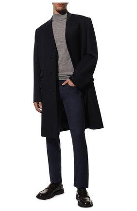 Мужские шерстяные брюки CANALI темно-синего цвета, арт. V1551/AR03472 | Фото 2 (Длина (брюки, джинсы): Стандартные; Материал внешний: Шерсть; Случай: Повседневный; Стили: Кэжуэл)