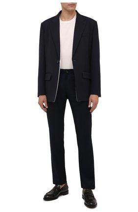 Мужские шерстяные брюки CANALI темно-синего цвета, арт. V1551/AR03472 | Фото 2 (Материал внешний: Шерсть; Длина (брюки, джинсы): Стандартные; Случай: Повседневный; Стили: Кэжуэл)