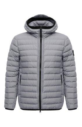 Мужская пуховая куртка STONE ISLAND светло-серого цвета, арт. 751542725   Фото 1