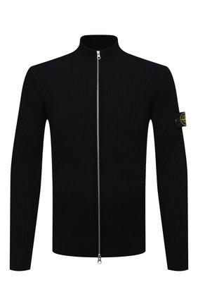 Мужской шерстяной кардиган STONE ISLAND черного цвета, арт. 7515523C2 | Фото 1