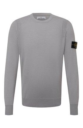 Мужской шерстяной джемпер STONE ISLAND светло-серого цвета, арт. 7515526C4   Фото 1