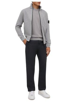 Мужской шерстяной джемпер STONE ISLAND светло-серого цвета, арт. 7515526C4   Фото 2