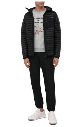 Мужской хлопковый свитшот SAINT LAURENT серого цвета, арт. 664350/Y36HT | Фото 2