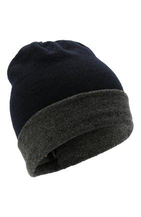 Мужская кашемировая шапка MOORER темно-синего цвета, арт. BARBERIN0-CWS/M0UBE100003-TEPA177 | Фото 1 (Материал: Кашемир, Шерсть; Кросс-КТ: Трикотаж)