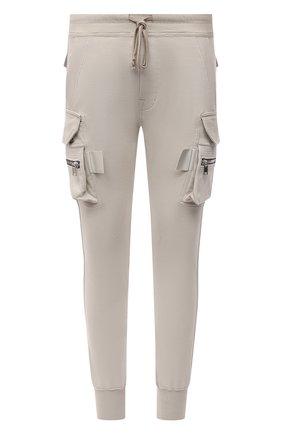 Мужские хлопковые джоггеры RICK OWENS кремвого цвета, арт. RU02A5396/BA   Фото 1 (Материал внешний: Хлопок; Силуэт М (брюки): Джоггеры, Карго; Кросс-КТ: Трикотаж; Стили: Спорт-шик; Длина (брюки, джинсы): Стандартные)