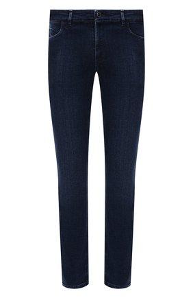 Мужские джинсы ZILLI синего цвета, арт. MCW-00090-JAC01/R001 | Фото 1 (Длина (брюки, джинсы): Стандартные; Материал внешний: Хлопок; Кросс-КТ: Деним; Детали: Потертости; Силуэт М (брюки): Прямые; Стили: Кэжуэл)
