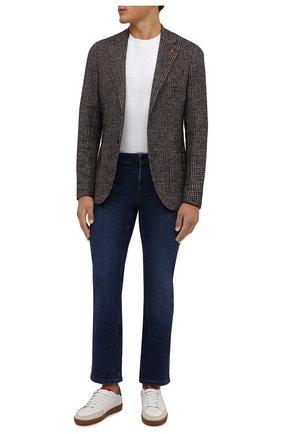 Мужские джинсы ZILLI синего цвета, арт. MCW-00090-JAC01/R001 | Фото 2 (Длина (брюки, джинсы): Стандартные; Материал внешний: Хлопок; Кросс-КТ: Деним; Детали: Потертости; Силуэт М (брюки): Прямые; Стили: Кэжуэл)