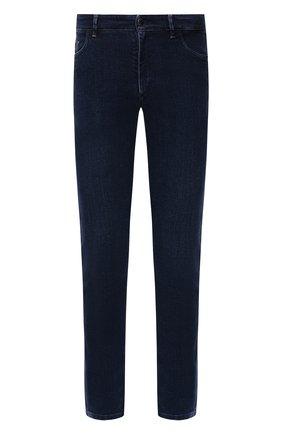 Мужские джинсы ZILLI синего цвета, арт. MCW-00090-JAC01/S001 | Фото 1 (Длина (брюки, джинсы): Стандартные; Материал внешний: Хлопок; Кросс-КТ: Деним; Силуэт М (брюки): Прямые; Стили: Кэжуэл)