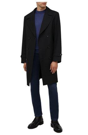 Мужские джинсы ZILLI синего цвета, арт. MCW-00090-JAC01/S001 | Фото 2 (Длина (брюки, джинсы): Стандартные; Материал внешний: Хлопок; Кросс-КТ: Деним; Силуэт М (брюки): Прямые; Стили: Кэжуэл)