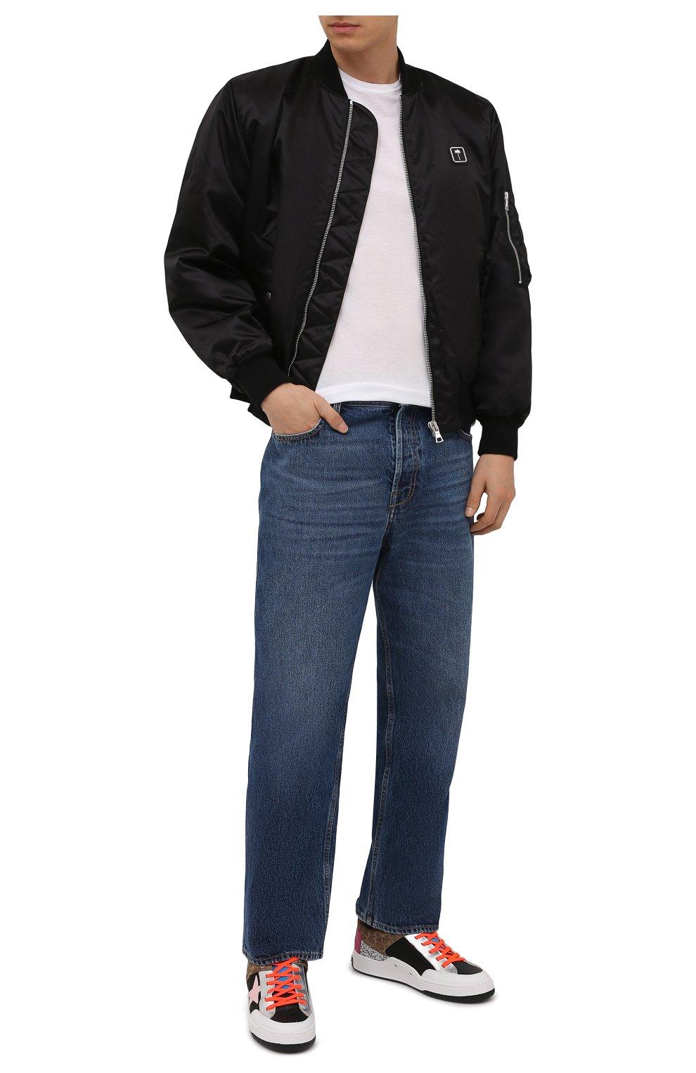 Мужская хлопковая футболка FEDELI белого цвета, арт. 4UIF0113   Фото 2 (Принт: Без принта; Рукава: Короткие; Длина (для топов): Стандартные; Материал внешний: Хлопок; Стили: Кэжуэл)