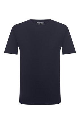 Мужская хлопковая футболка FEDELI темно-синего цвета, арт. 4UIF0113 | Фото 1