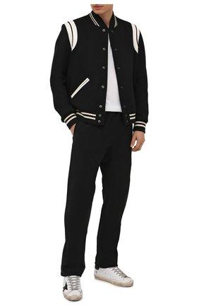 Мужские кожаные кеды superstar GOLDEN GOOSE DELUXE BRAND белого цвета, арт. GMF00101.F002035 | Фото 2 (Подошва: Плоская; Материал внутренний: Натуральная кожа; Материал утеплителя: Натуральный мех)