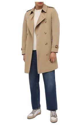 Мужские кожаные кеды ballstar GOLDEN GOOSE DELUXE BRAND белого цвета, арт. GMF00117.F002099 | Фото 2 (Подошва: Массивная; Материал внутренний: Натуральная кожа)