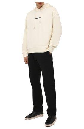 Мужские кожаные кеды stardan GOLDEN GOOSE DELUXE BRAND черного цвета, арт. GMF00128.F000860 | Фото 2 (Материал внутренний: Натуральная кожа, Текстиль; Подошва: Массивная)