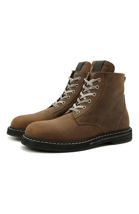 Мужские кожаные ботинки GOLDEN GOOSE DELUXE BRAND коричневого цвета, арт. GMF00187.F002173 | Фото 1 (Подошва: Плоская; Материал внутренний: Натуральная кожа; Мужское Кросс-КТ: Ботинки-обувь)