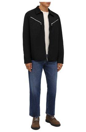 Мужские кожаные ботинки GOLDEN GOOSE DELUXE BRAND коричневого цвета, арт. GMF00187.F002173 | Фото 2 (Подошва: Плоская; Материал внутренний: Натуральная кожа; Мужское Кросс-КТ: Ботинки-обувь)